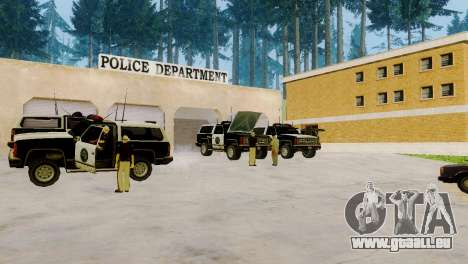 La renaissance de tous les postes de police pour GTA San Andreas quatrième écran