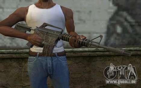 CAR-15 from Battlefield: Vietnam pour GTA San Andreas troisième écran
