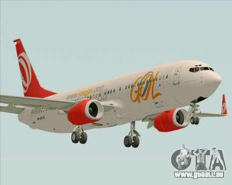 Boeing 737-800 Gol Transportes Aéreos pour GTA San Andreas vue de dessus