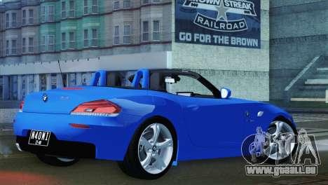 BMW Z4 sDrive28i 2012 Stock pour GTA San Andreas laissé vue
