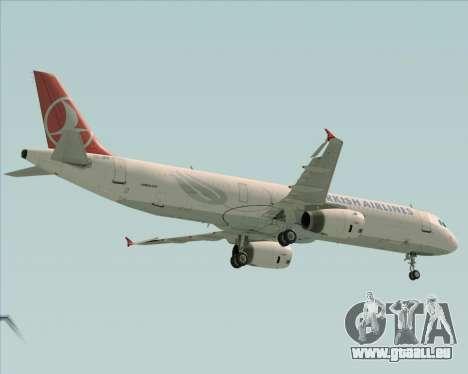 Airbus A321-200 Turkish Airlines pour GTA San Andreas vue arrière