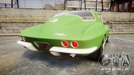 Chevrolet Corvette Stingray 1963 pour GTA 4 Vue arrière de la gauche