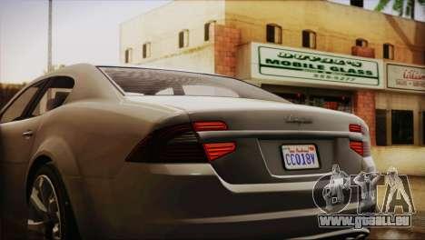 Lampadati Felon (IVF) für GTA San Andreas Rückansicht