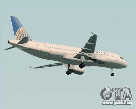 Airbus A320-232 United Airlines für GTA San Andreas Unteransicht