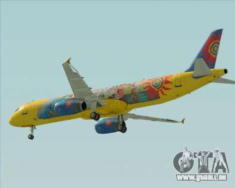 Airbus A321-200 für GTA San Andreas Innenansicht