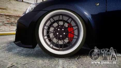 Lexus IS 350 F-Sport pour GTA 4 Vue arrière