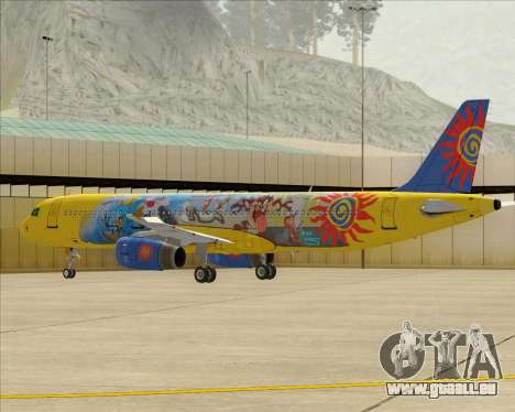 Airbus A321-200 für GTA San Andreas Unteransicht