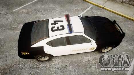 GTA V Bravado Buffalo LS Sheriff Black [ELS] für GTA 4 rechte Ansicht
