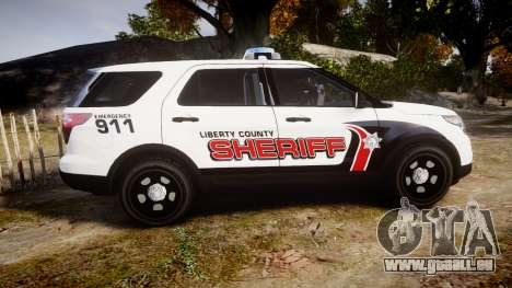 Ford Explorer 2013 LC Sheriff [ELS] pour GTA 4 est une gauche