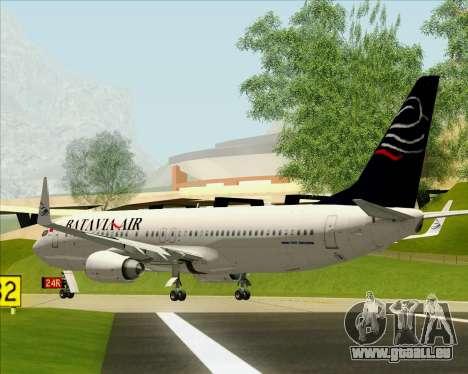 Boeing 737-800 Batavia Air für GTA San Andreas Rückansicht