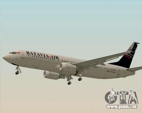 Boeing 737-800 Batavia Air für GTA San Andreas Innenansicht