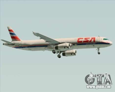 Airbus A321-200 CSA Czech Airlines für GTA San Andreas Seitenansicht
