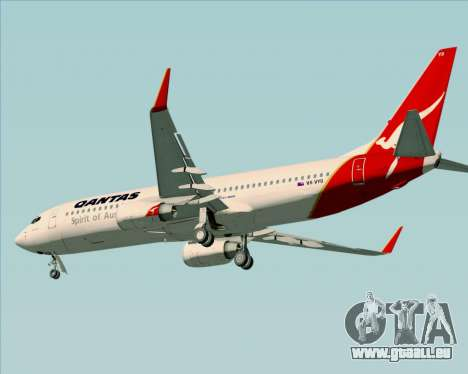 Boeing 737-838 Qantas (Old Colors) pour GTA San Andreas sur la vue arrière gauche