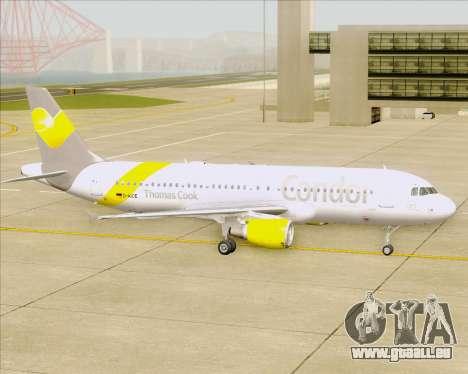 Airbus A320-212 Condor für GTA San Andreas obere Ansicht