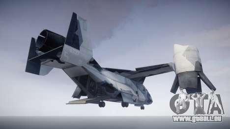 VTOL Warship PJ3 für GTA 4 hinten links Ansicht