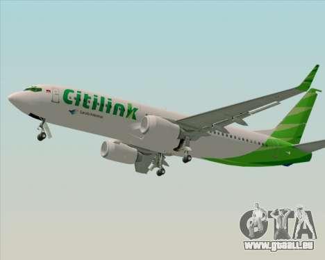 Boeing 737-800 Citilink pour GTA San Andreas vue de droite