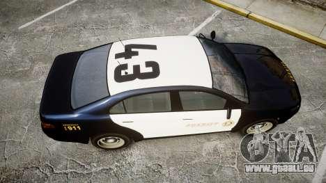 GTA V Vapid Interceptor LSS Black [ELS] Slicktop pour GTA 4 est un droit