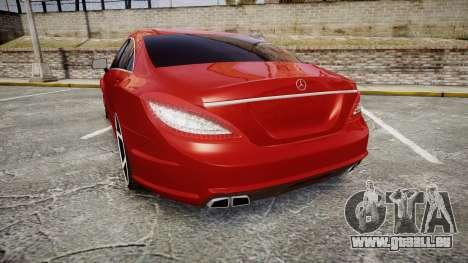 Mercedes-Benz CLS 63 AMG Vossen pour GTA 4 Vue arrière de la gauche