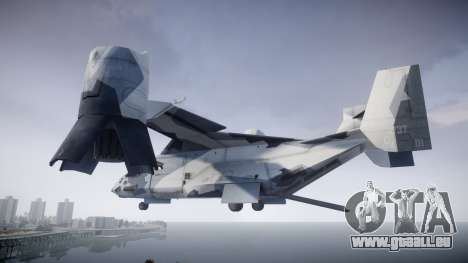 VTOL Warship PJ3 pour GTA 4 est une gauche