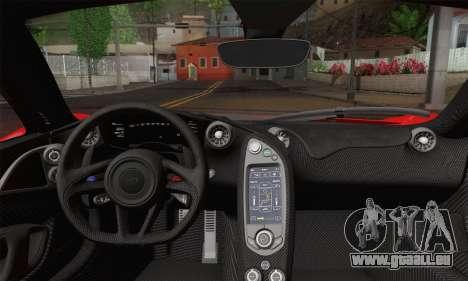 McLaren P1 HQ pour GTA San Andreas sur la vue arrière gauche