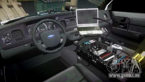 Ford Crown Victoria PS Police [ELS] pour GTA 4 Vue arrière