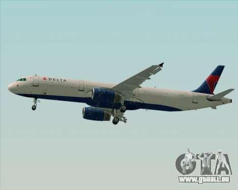 Airbus A321-200 Delta Air Lines pour GTA San Andreas moteur