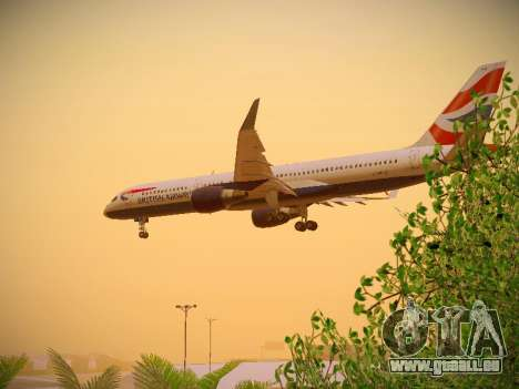 Boeing 757-236 British Airways für GTA San Andreas Innen