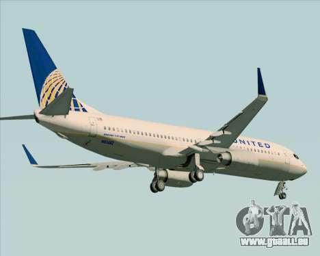 Boeing 737-824 United Airlines für GTA San Andreas Räder