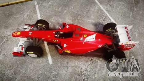 Ferrari 150 Italia Alonso für GTA 4 rechte Ansicht