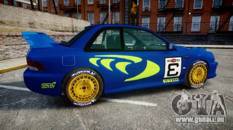 Subaru Impreza WRC 1998 Rally v2.0 Green pour GTA 4 est une gauche