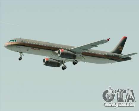 Airbus A321-200 Royal Jordanian Airlines für GTA San Andreas rechten Ansicht