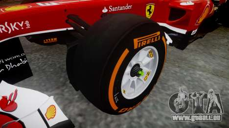 Ferrari F138 v2.0 [RIV] Alonso THD pour GTA 4 Vue arrière
