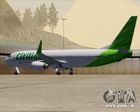 Boeing 737-800 Citilink pour GTA San Andreas vue de dessous