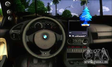 BMW E36 Stanced pour GTA San Andreas sur la vue arrière gauche