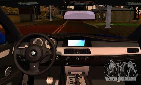 BMW M5 E60 2006 pour GTA San Andreas sur la vue arrière gauche