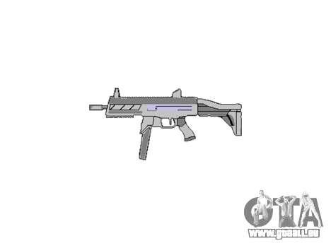 Pistolet SMT40 avec crosse icon3 pour GTA 4 troisième écran