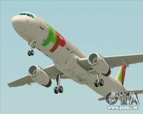 Airbus A321-200 TAP Portugal pour GTA San Andreas vue arrière