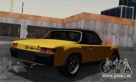 Porsche 914 pour GTA San Andreas laissé vue