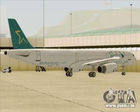 Airbus A321-200 Hansung Airlines für GTA San Andreas Räder