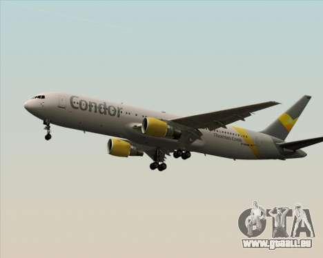 Boeing 767-330ER Condor für GTA San Andreas zurück linke Ansicht