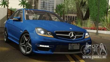 Mercedes-Benz C63 AMG Sedan 2012 für GTA San Andreas Innenansicht