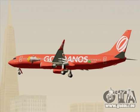 Boeing 737-800 Gol Transportes Aéreos für GTA San Andreas Unteransicht