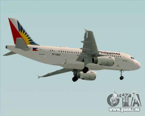 Airbus A319-112 Philippine Airlines für GTA San Andreas Unteransicht