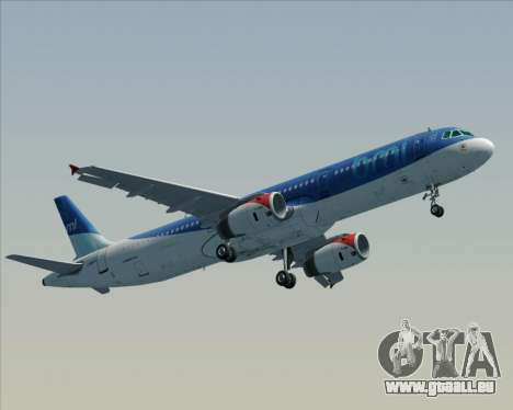 Airbus A321-200 British Midland International für GTA San Andreas rechten Ansicht