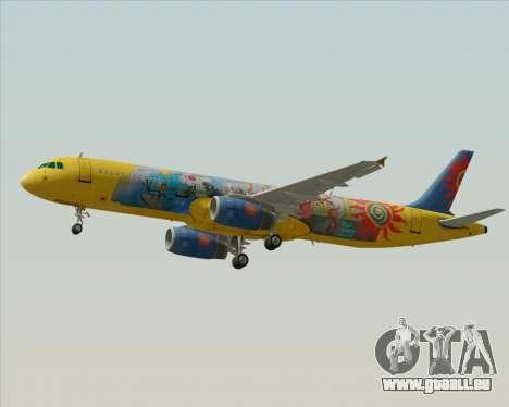 Airbus A321-200 für GTA San Andreas obere Ansicht