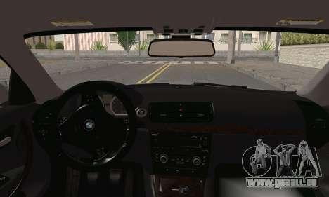 BMW 135i 2009 pour GTA San Andreas sur la vue arrière gauche