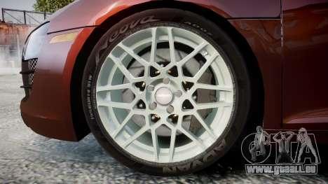 Audi R8 2010 Rotiform BLQ pour GTA 4 Vue arrière