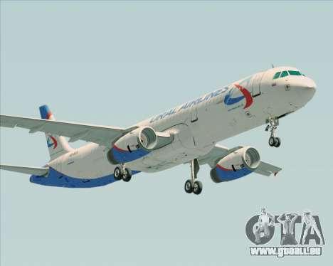 Airbus A321-200 Ural Airlines pour GTA San Andreas vue arrière