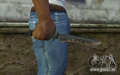 Knife from CS:S Bump Mapping v2 pour GTA San Andreas troisième écran