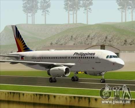 Airbus A319-112 Philippine Airlines für GTA San Andreas Innenansicht